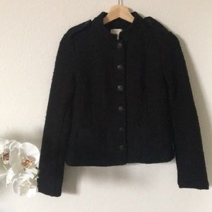 LOFT | black button up knit blazer